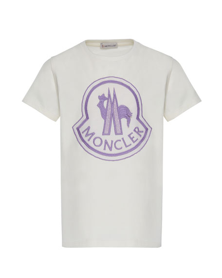 Moncler Short-Sleeve Logo Patch T-Shirt, Size 4-6