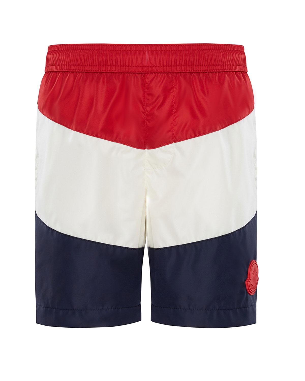 9c414bc35c Moncler Colorblock Swim Trunks, Size 8-14   Neiman Marcus