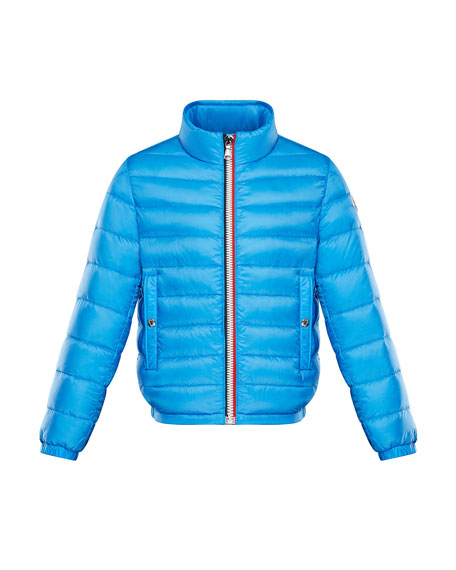 Moncler Tarn Quilted Stand-Collar Jacket, Size 4-6