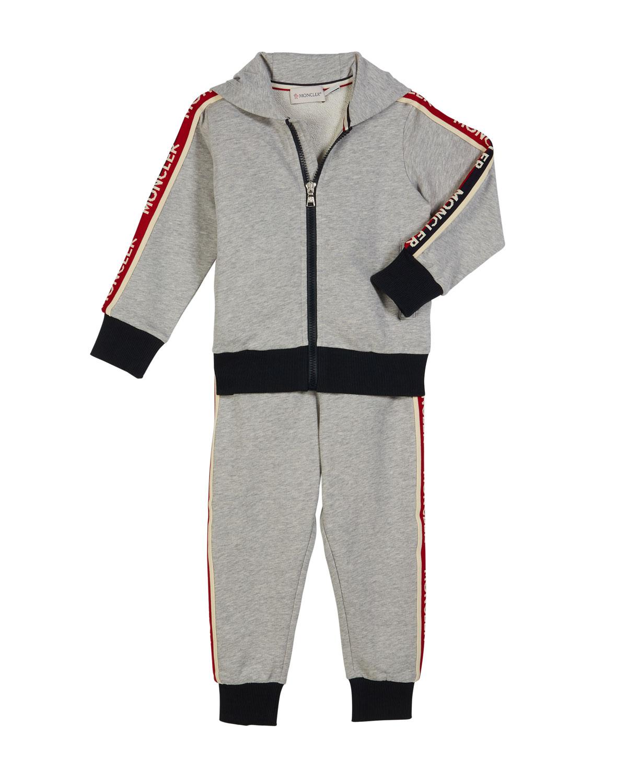 1a1cc16b5a63 Moncler Two-Piece Logo Sweat Suit, Size 4-6   Neiman Marcus