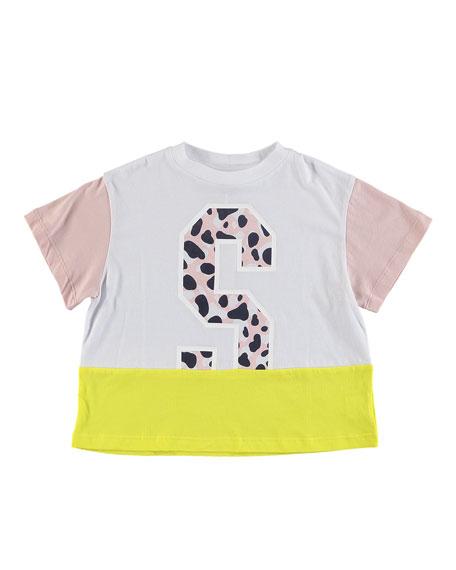 Stella McCartney Kids Camo S Colorblock Tee, Size 6-14