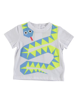 6eaccc7fb4266 Stella McCartney Kids Slithering Snake Graphic Tee