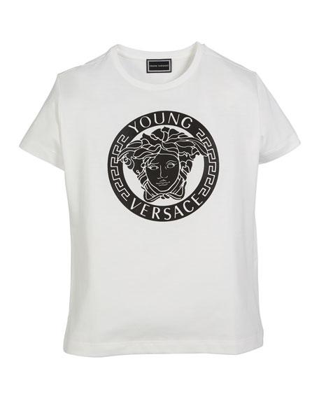 Versace Medusa Logo Short-Sleeve Tee, Size 8-10