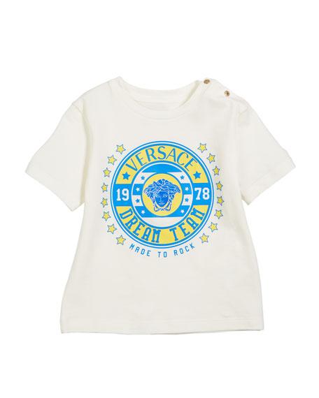 Versace Short-Sleeve Logo Graphic Tee, Size 12-36 Months