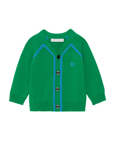Sedrick Two-Tone Button-Front Cardigan  Size 12M-2