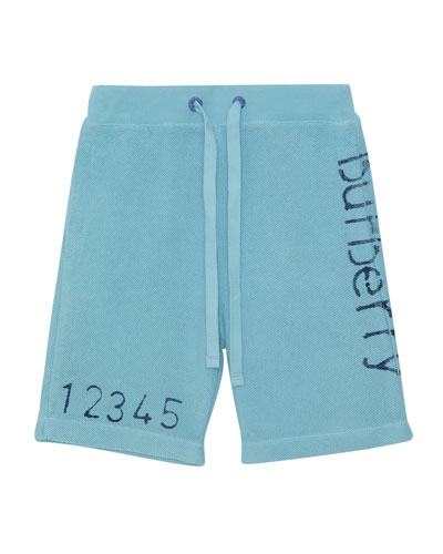 Damien Logo & Numbers Knit Drawstring Shorts  Size 6M-2