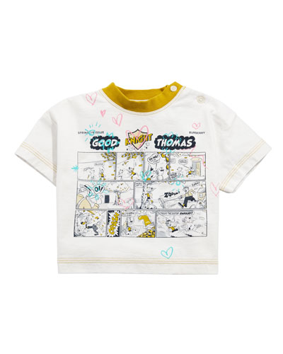 Comic Doodle Graphic Tee  Size 6M-2