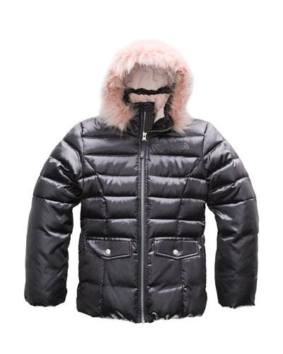 Gotham 2.0 Satin Twill Jacket w/ Fur Trim  Size XXS-XL