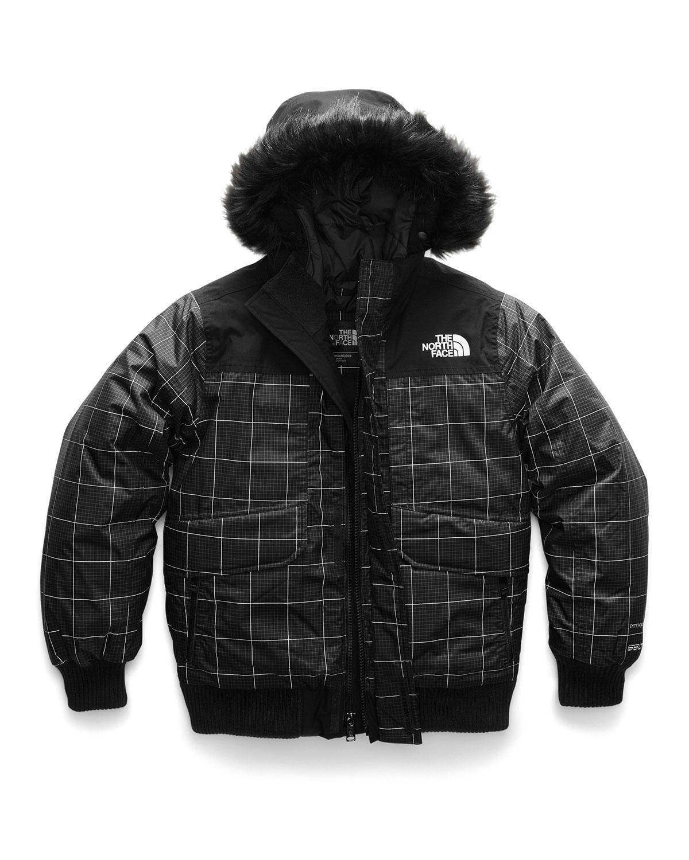 a29e2d629 Gotham Down Hooded Grid Jacket w/ Faux-Fur Trim, Size XXS-XL