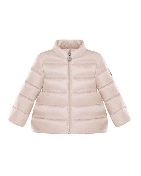 Moncler Quilted Stand-Collar Coat, Size 12M-3