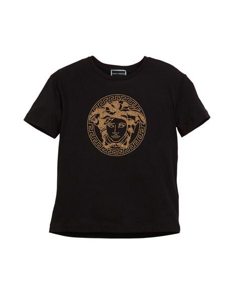 Versace Short-Sleeve Medusa Head Tee, Size 4-6