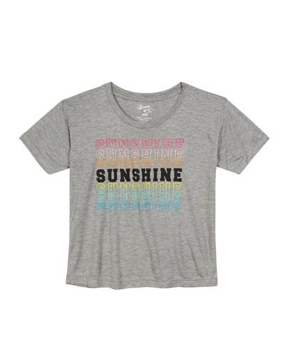 Short-Sleeve Sunshine Graphic Tee  Size S-XL