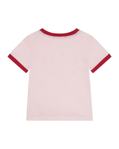 Dolce & Gabbana Two-Tone Logo T-Shirt, Size 4-6