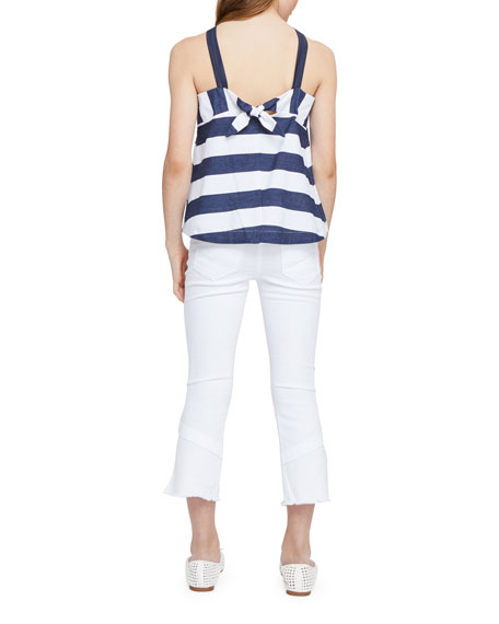 Habitual Harriet Striped Baby Doll Halter Top, Size 7-14