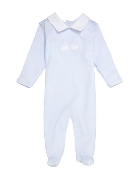 Kissy Kissy Bunny Hop Spread-Collar Footie Playsuit, Size Newborn-9 Months