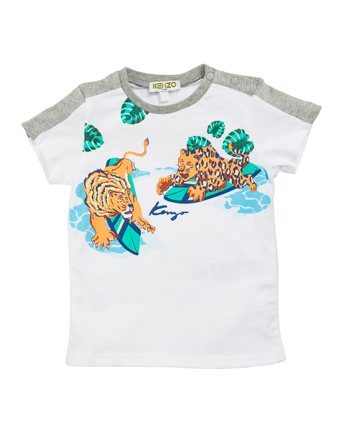 e2065388c Kenzo Surfing Tiger Graphic Tee, Size 12-18 Months and Matching ...
