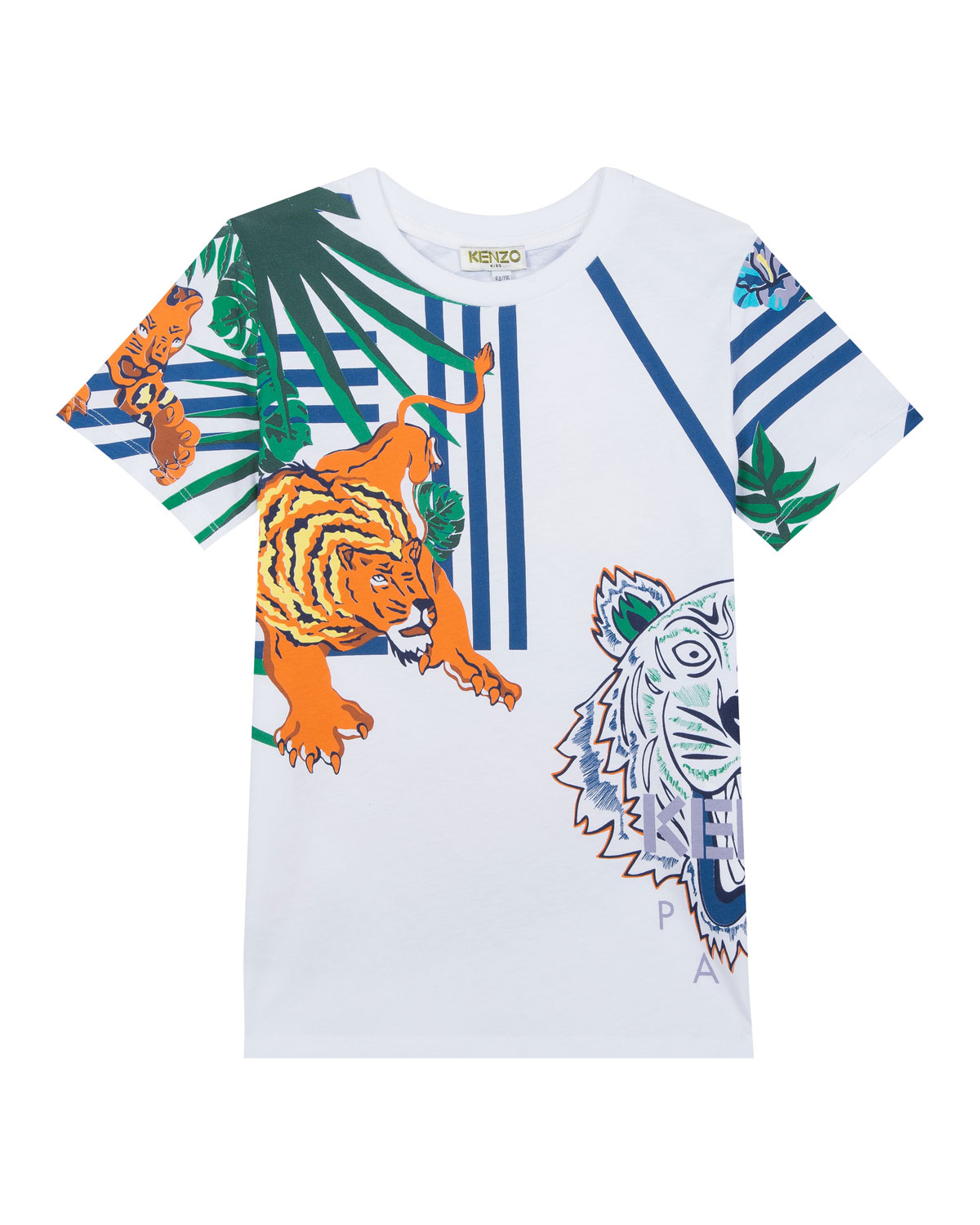 21afa142 Kenzo Multi-Icon Graphic T-Shirt, Size 2-4 | Neiman Marcus