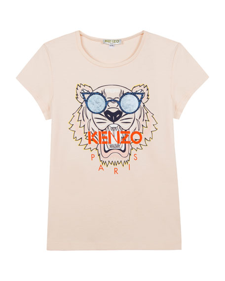 Kenzo Tiger in Sunglasses Graphic T-Shirt, Size 8-12
