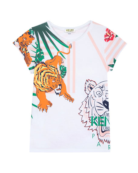 Kenzo Assorted Icon Graphic T-Shirt, Size 8-12