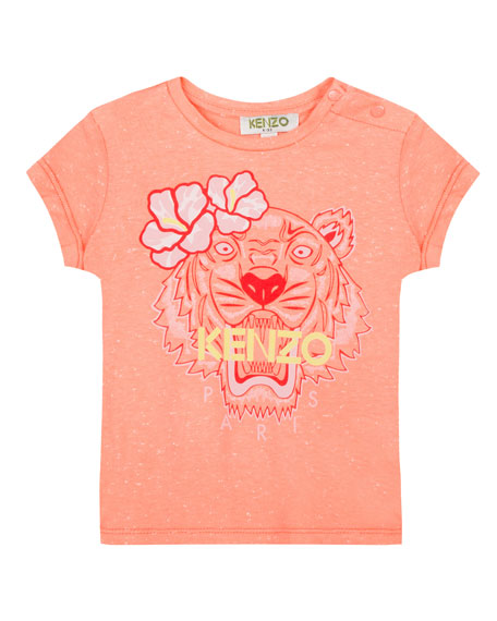Kenzo Floral Tiger Graphic T-Shirt, Size 8-12