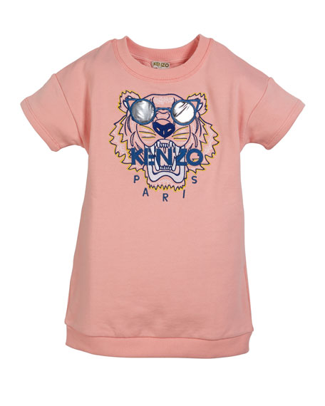 Kenzo Sunglasses Tiger Embroidered Sweatshirt Dress, Size 5-6