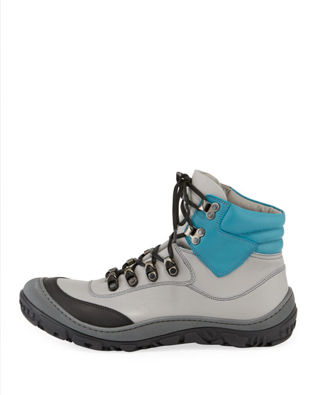 Image 2 of 4: Stefano Ricci Leather Ski Boots, Kids