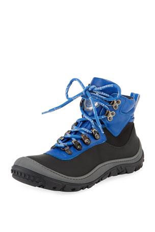Stefano Ricci Leather Logo-Laces Ski Boots, Kids