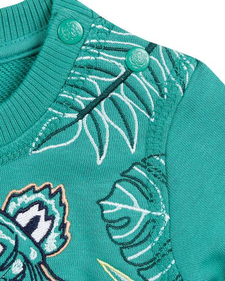 Kenzo Botanical Tiger Embroidered Sweatshirt, Size 12-18 Months