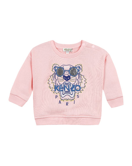 Kenzo Tiger in Sunglasses Embroidered Sweatshirt, Size 12-18 Months