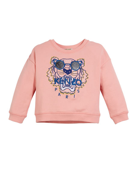 Kenzo Tiger in Sunglasses Embroidered Sweatshirt, Size 2-4