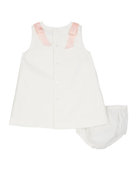 Luli & Me A-Line Brocade Dress w/ Bloomers, 2-4T