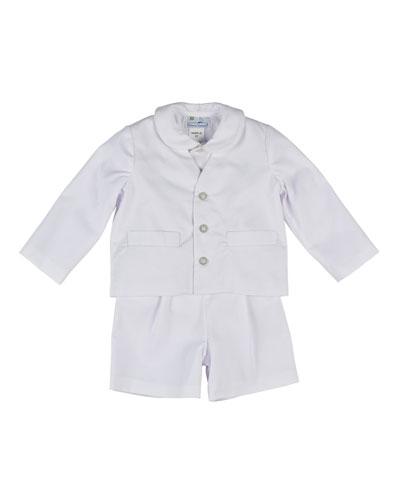 Eton Fine-Wale Pique Suit  Size 12-24 Months