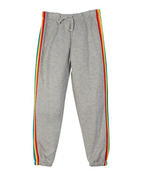 Flowers By Zoe Drawstring Sweatpants w/ Rainbow Taping, Size S-XL
