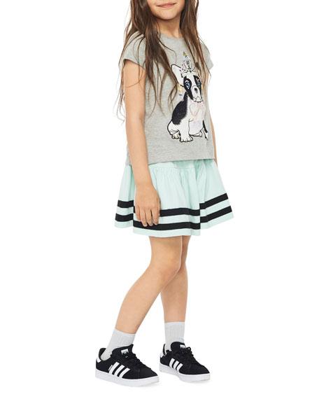 Molo Reenasa Bulldog in Tiara Short-Sleeve Tee, Size 3-12