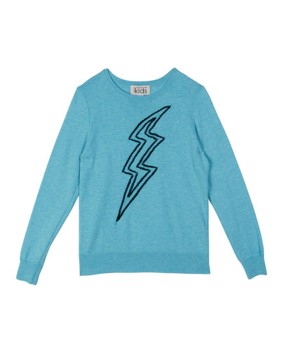 Lightning Bolt Embroidery Top  Size 8-14
