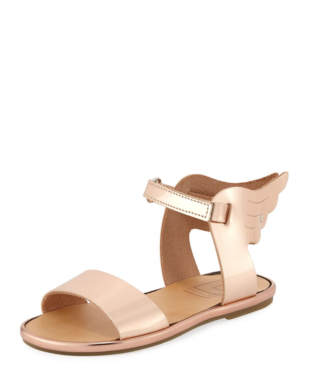 52a36628354 Metallic Leather Wing Sandal, Toddler