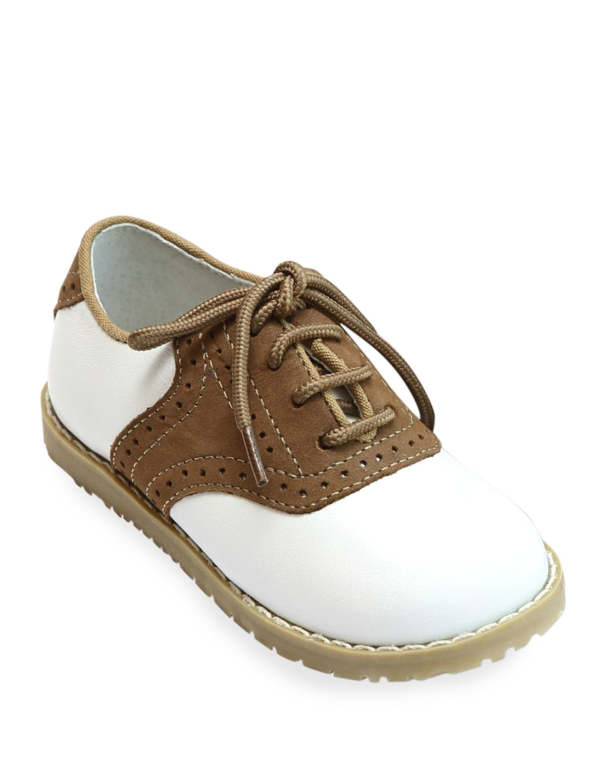 L Amour Shoes Luke Two Tone Leather Saddle Shoes Baby Toddler Kids