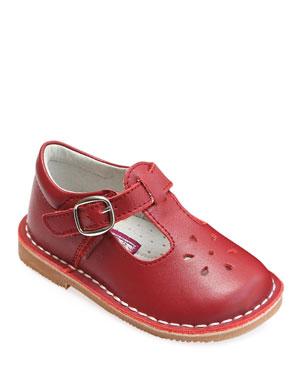 0c649a0e307da8 L Amour Shoes Joy Leather Cutout T-Strap Mary Jane