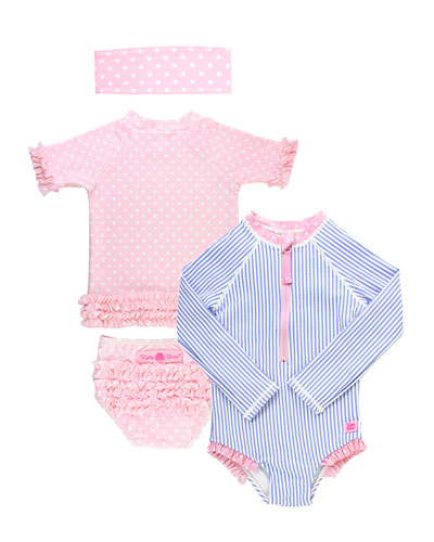 Stripe & Polka-Dot 4-Piece Layette Set  Size 2-8