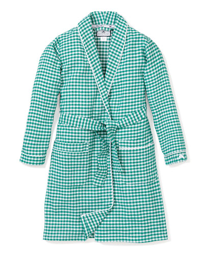 Gingham Flannel Robe  Size 2-14