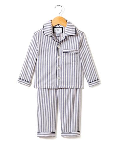 French Ticking Pajama Set  Size 2-10