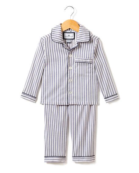 Petite Plume French Ticking Pajama Set, Size 2-10