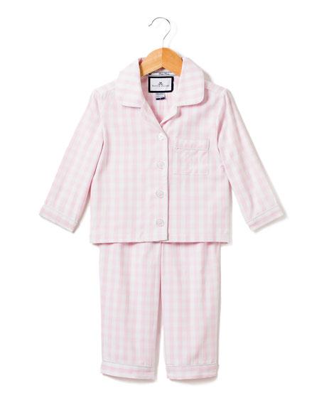 Petite Plume Gingham Pajama Set, Size 6M-14