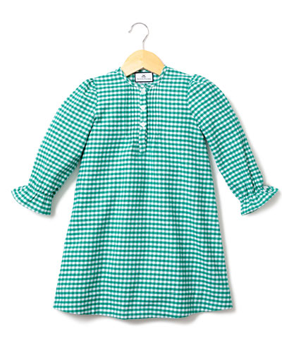 Beatrice Gingham Flannel Nightgown  Size 6M-14