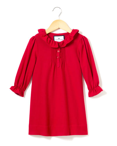 Victoria Flannel Pintucked Nightgown  Size 6M-14