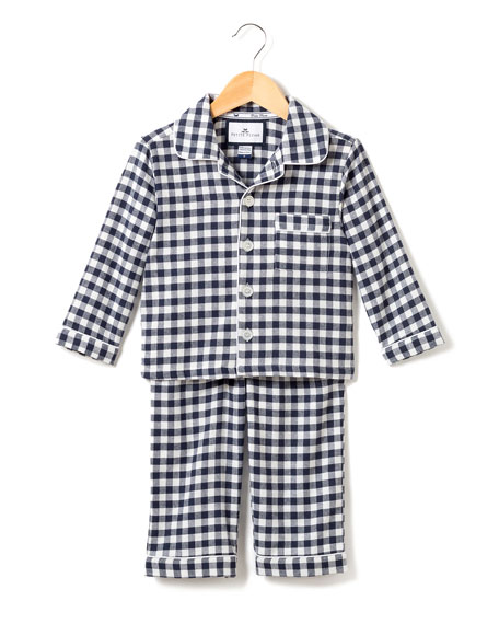 Petite Plume Gingham Flannel Pajama Set, Size 2-10