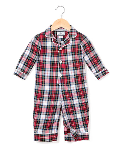 Festive Tartan Collared Coverall  Size 0-24 Months