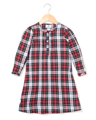 Beatrice Festive Tartan Nightgown  Size 6M-14