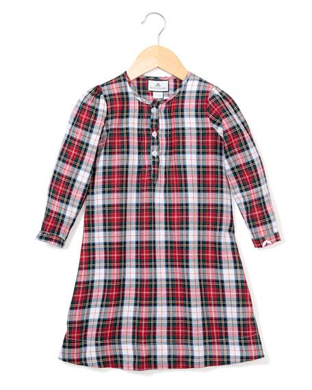 Petite Plume Beatrice Festive Tartan Nightgown, Size 6M-14