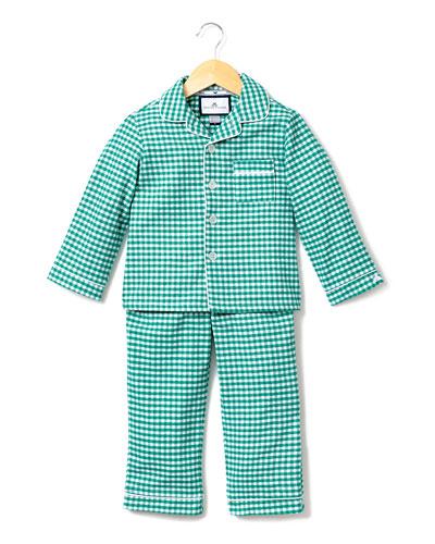 Gingham Flannel Pajama Set  Size 2-10